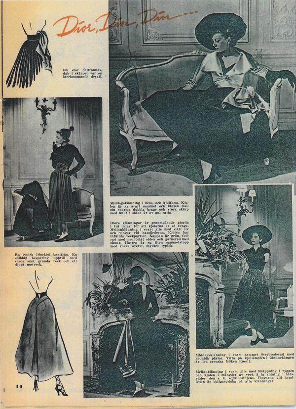 702f48c79862 Damernas Värld 1948 Dior