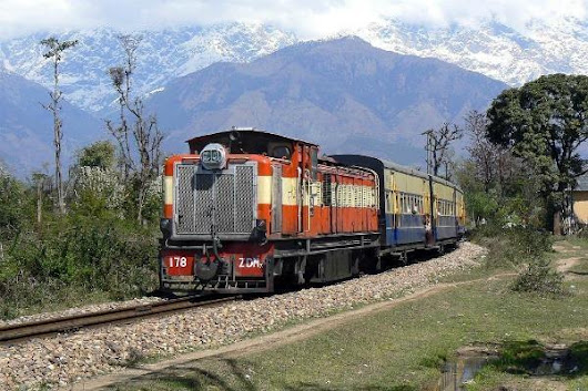 Kangra valley rail route which has been hit by Landslides every Year , On life line of the Ventilator in Hindi