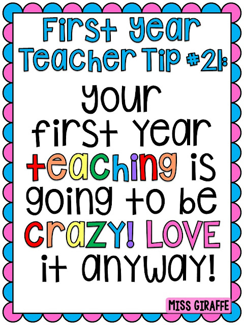 New teacher advice for your first year of teaching!