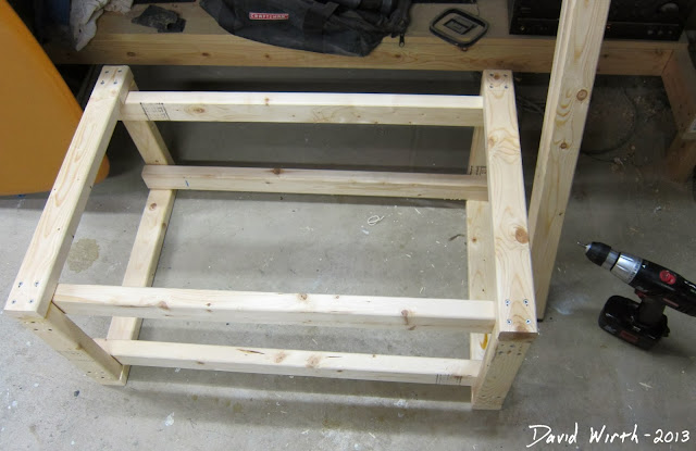 miter saw stand frame, wood, 2x3, 2x4, screw