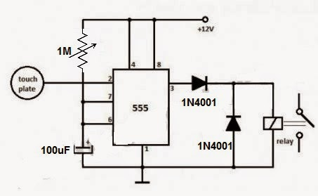 timer with touch switch