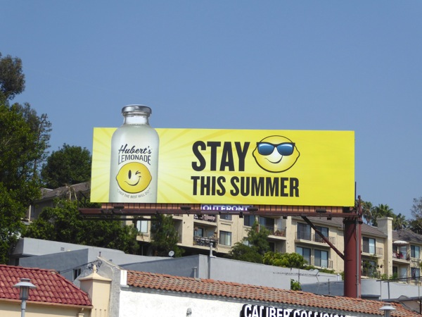 Huberts Lemonade special extension billboard