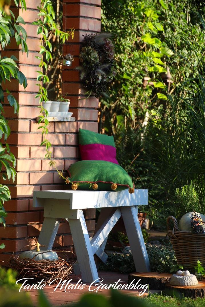 Gartenbank selbst gebaut