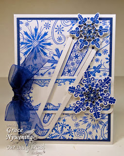 ODBD Products - Sparkling Snowflakes, ODBD Custom Snowflakes Die, ODBD Custom Bookmark Die, Bookmarks-Snowflakes, Snowflake Background