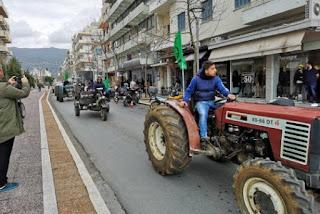 ΕΙΣΕΒΑΛΑΝ τα… τρακτέρ στην Καλαμάτα