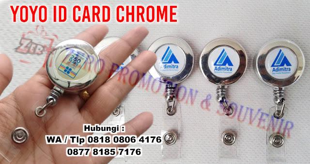jepit yoyo id card silver, Gantungan Yoyo ID Card Statis Warna Silver / Perak, Gantungan Id Card Yoyo Id Silver, yoyo chrome silver, Yoyo ID Card warna Silver, YOYO SILVER