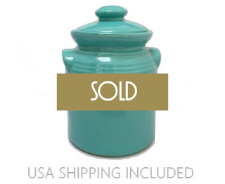 Turquoise 1950 Pottery Cookie Jar