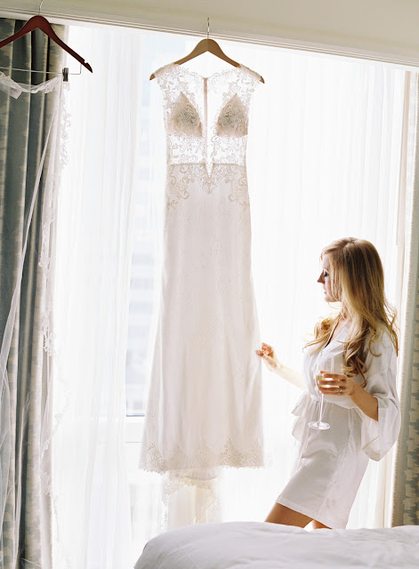 Jenna and her wedding gown before her Willow Ridge Country Club Wedding | Karen Hill Photography