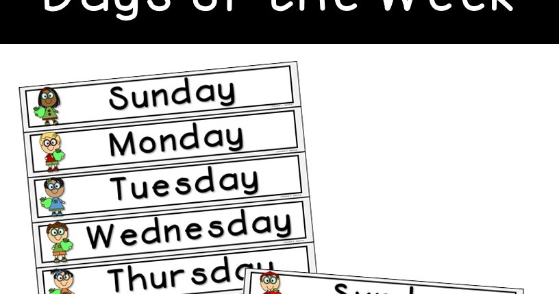 Teacher's Take-Out: Days of the Week Freebie!
