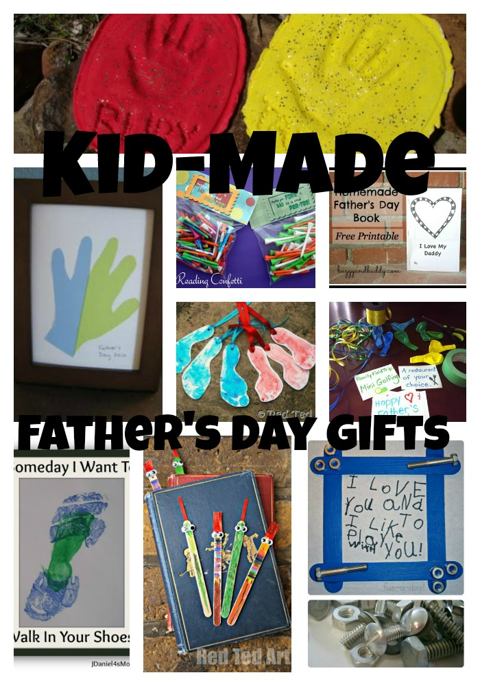 Father's Day Portrait Printable. Get the free printable from Totschooling. And that's the end of our list of favorite Handmade Father's Day gifts from kids. Which one is your favorite? Looking for more keepsake ideas? These Butterfly Footprint Shrinky Dink Keychains are so cute. You could even make them with just a footprint for Father's Day.