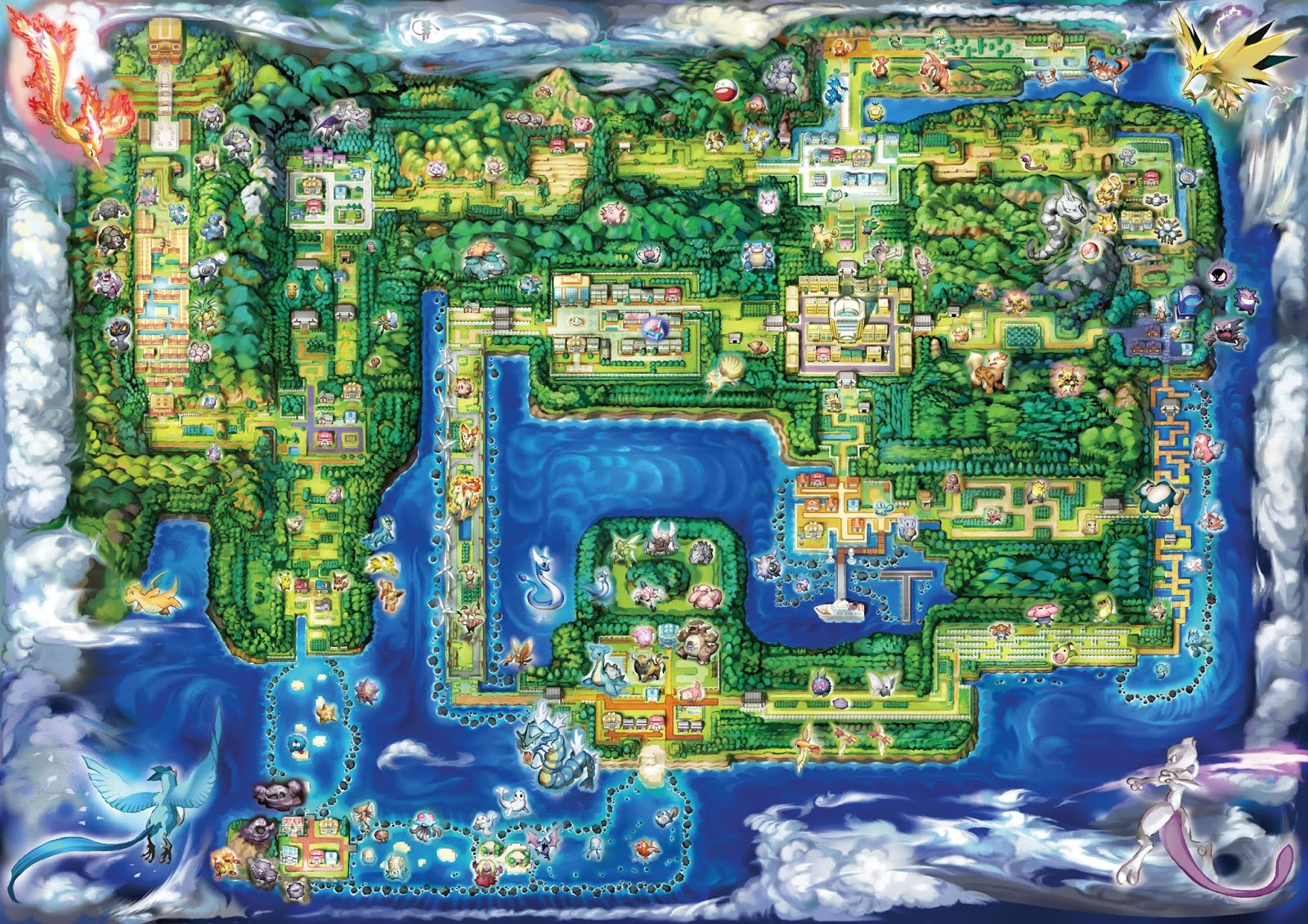 Pokemon mapa kanto