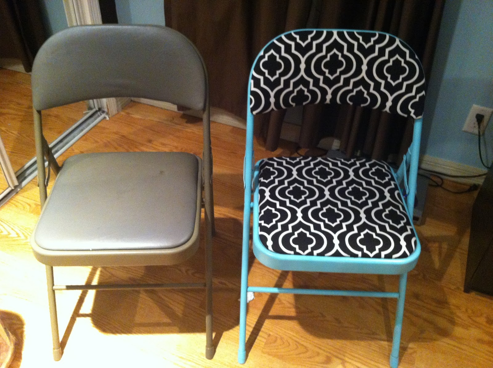 folding chair upcycle cover rentals queens ny my first apartment new cut
