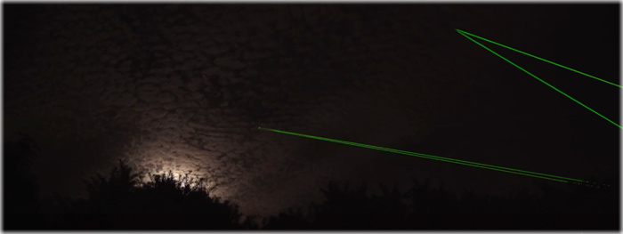 lasers rastreiam lixo espacial