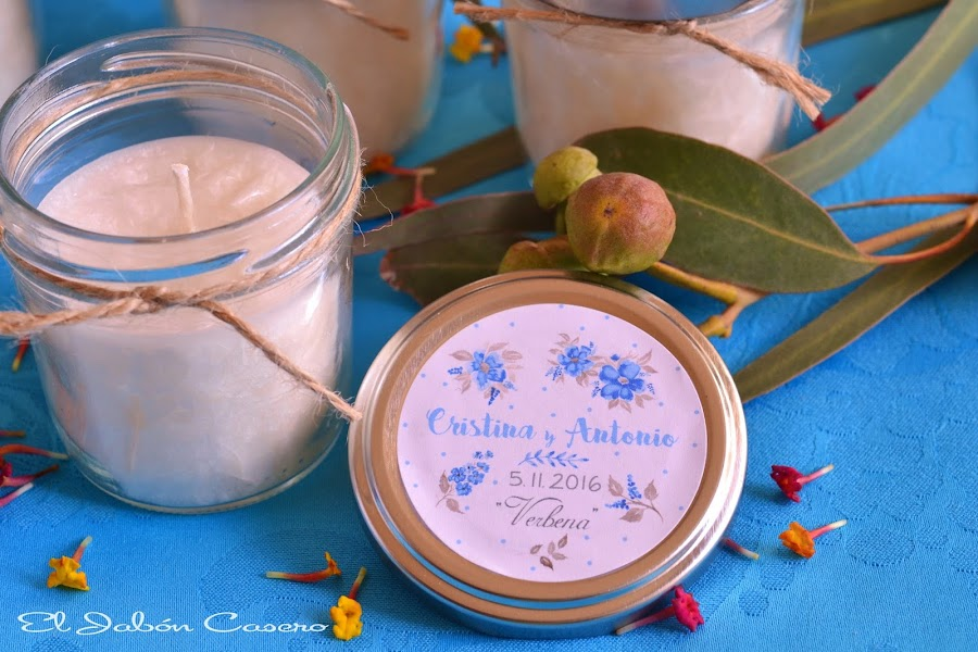 Detalles boda velas aromaticas artesanales