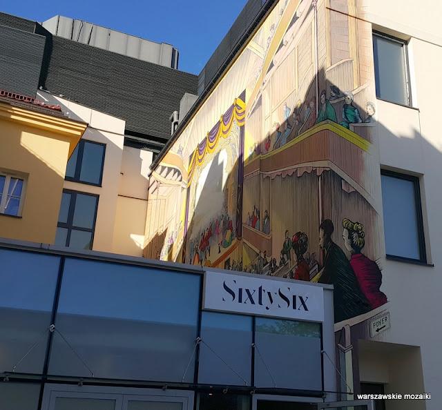 Warszawa Warsaw Śródmieście murale warszawskie kamienica street