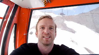 Me in the gondola to Tochal