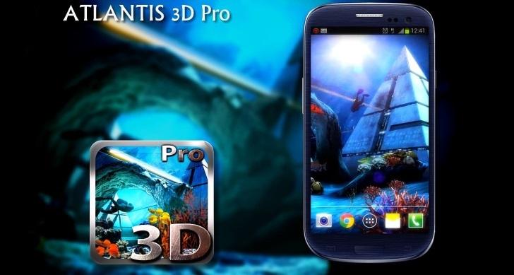 Atlantis 3D Pro Live Wallpaper v1.2 apk download - Only android apk