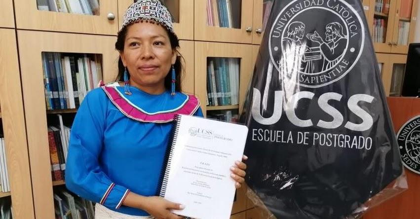 JOVITA VÁSQUEZ: Conoce a la primera peruana en sustentar su tesis de maestría en shipibo
