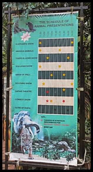 Jadual Persembahan Taman Safari Indonesia