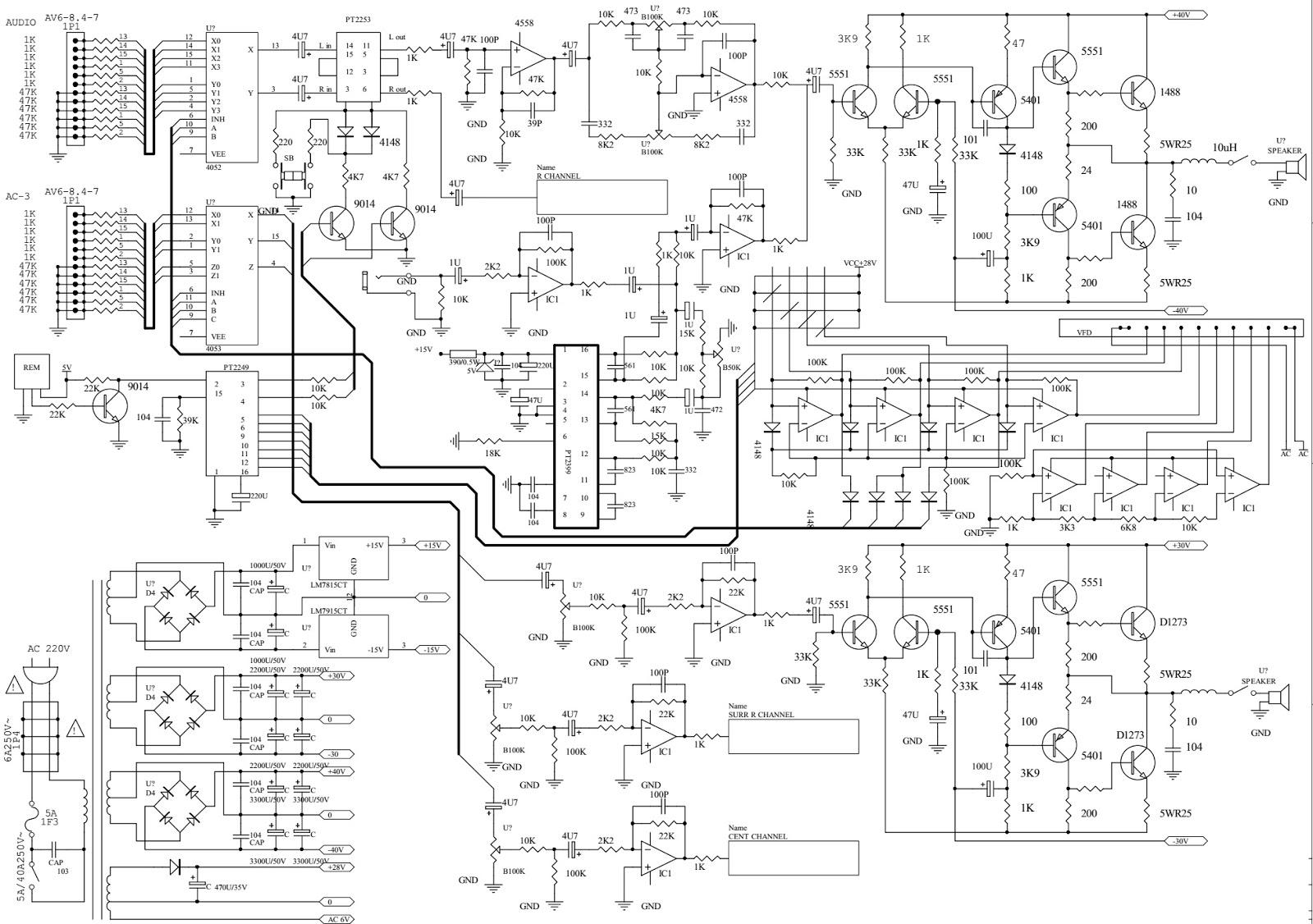 home theatre circuit diagrams home theatre circuit diagrams