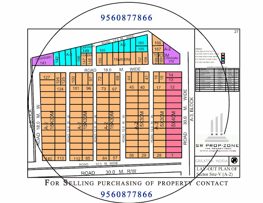 A-2 Surajpur Site-5 Layout Master Plan HD Map Greater Noida