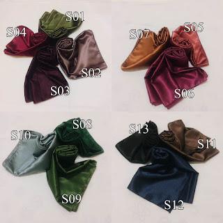 Satin shawl dengan berbagai warna pilihan