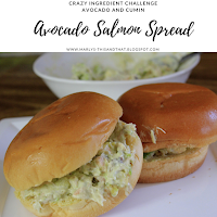 A spread or a dip made with smoked salmon and avocado for this month's crazy ingredient challenge.