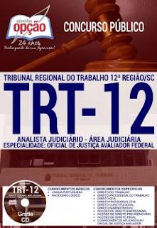 Apostila TRT12 (Região) Analista Judiciário (Oficial de Justiça)