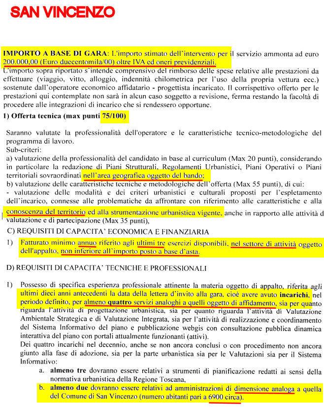 San vincenzo lavori in corso bando per il progettista del for Progettista del piano interrato