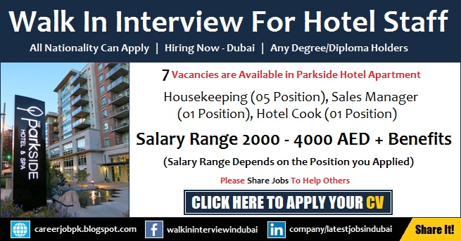 Parkside Hotel Apartment Walk in Interview