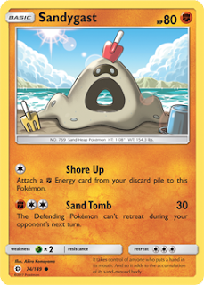 Sandygast Sun and Moon Pokemon Card