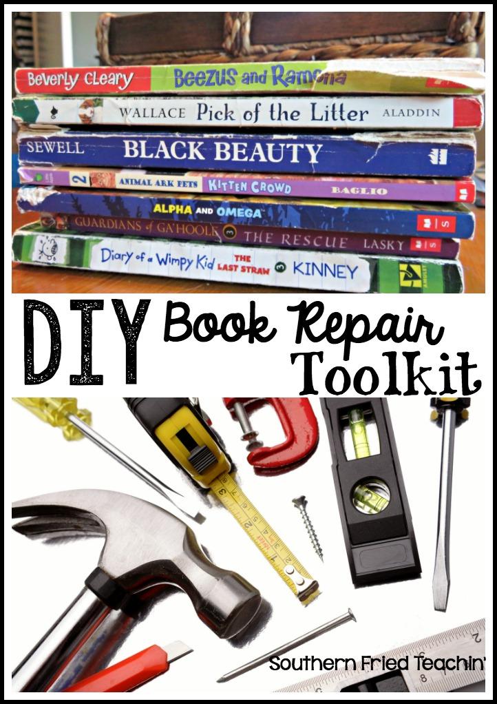 Repair Old Book Cover : Diy book repair toolkit southern fried teachin