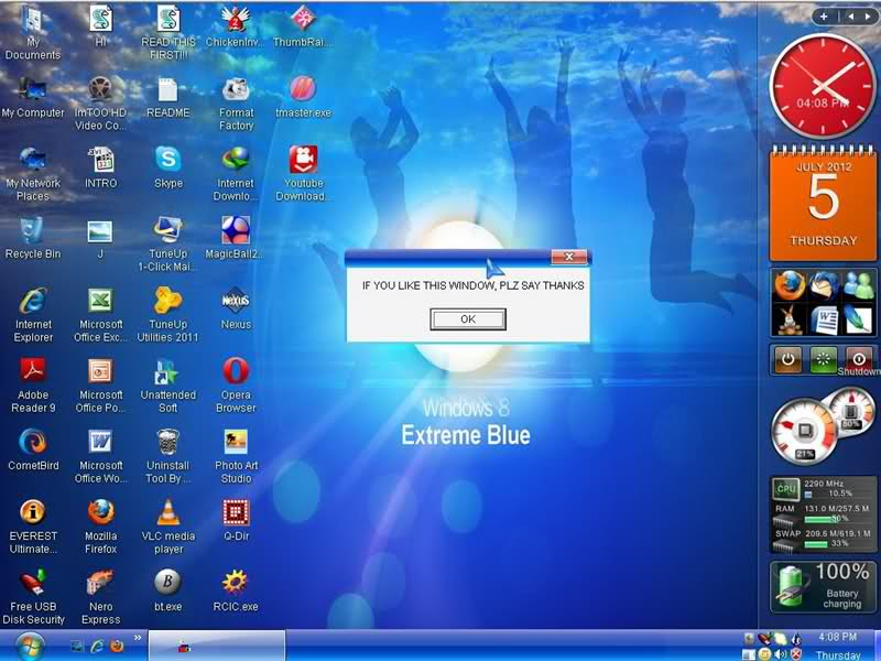 Windows Xp 8 Extreme Blue Sp3 2012 Download Free