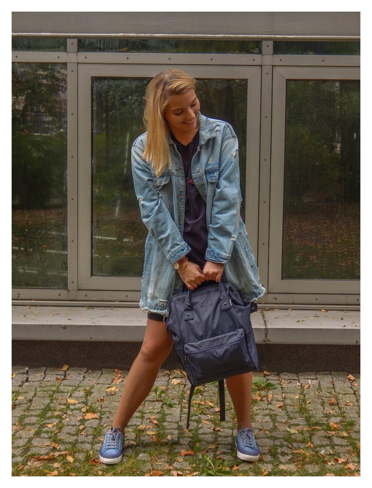 13 plecak idealny do szkoły pracy na wycieczki recenzja opinie jaki plecak kupić wybrać dla dorosłych sportowy elegancki designe jeans volcano answear kod zniżkowy stylizacja coca cola jeans denim style fashion