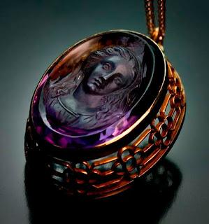 """escultura religiosa """"camafeo"""" trabajada en amatista - foro de minerales"""