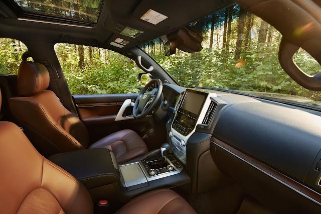 Interior view of 2019 Toyota Land Cruiser