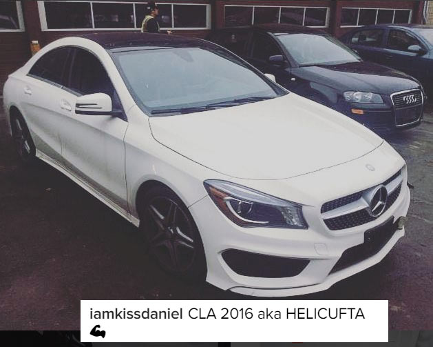 Kiss Daniel flaunts his brand new 16 million naira Benz