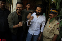 Vivek Oberoi and Riteish Deshmukh Promoting Their movie Bank Chor~  Exclusive 25.JPG