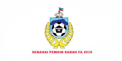 Senarai Rasmi Pemain Sabah FA Liga Perdana 2019