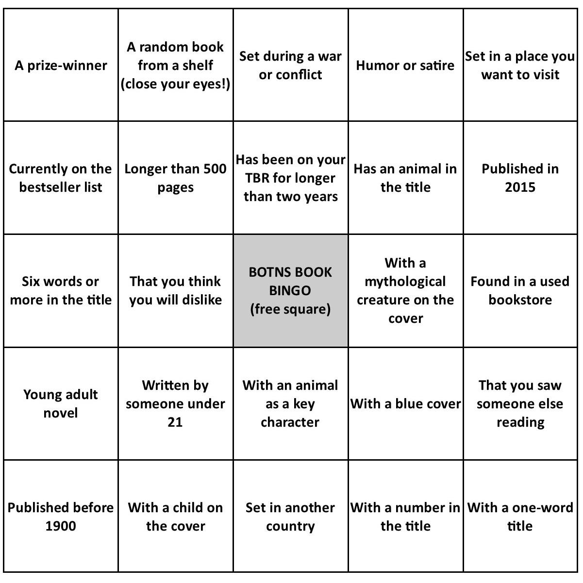 Erratic Project Junkie Botns Summer Book Bingo Wrap Up