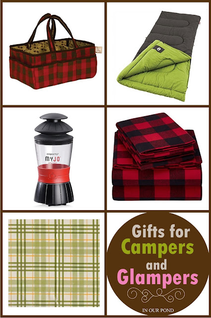 Gifts for Campers and Glamper: a gift guide from In Our Pond