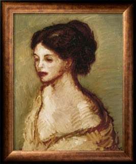 portrait art for salon wall, Study, Nonelli