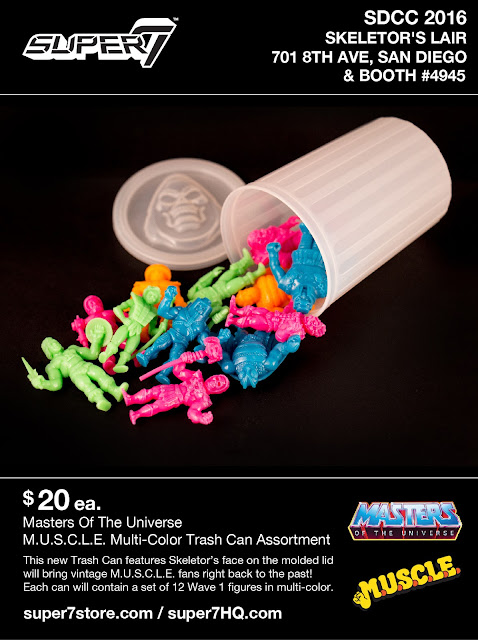 San Diego Comic-Con 2016 Exclusive Masters of the Universe Multi-Color M.U.S.C.L.E. Trash Can Mini Figure Set by Super7