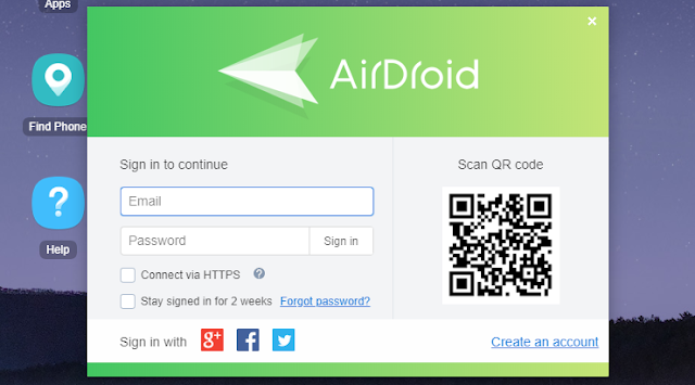 Abrir el navegador y dirigirte a AirDroid Web