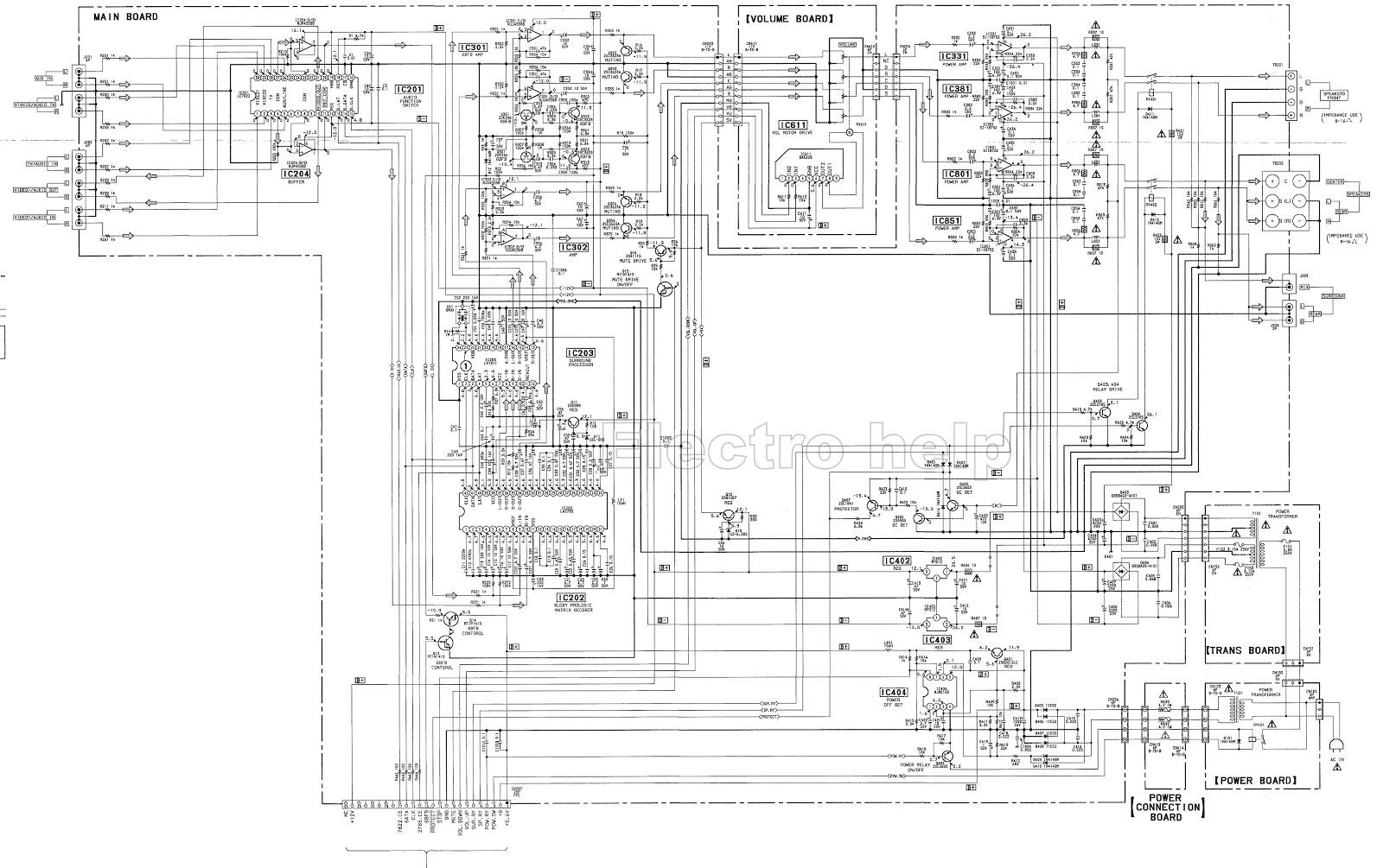 Sony Ta Ve110 Stereo Av Amplifier Schematic Electro Help