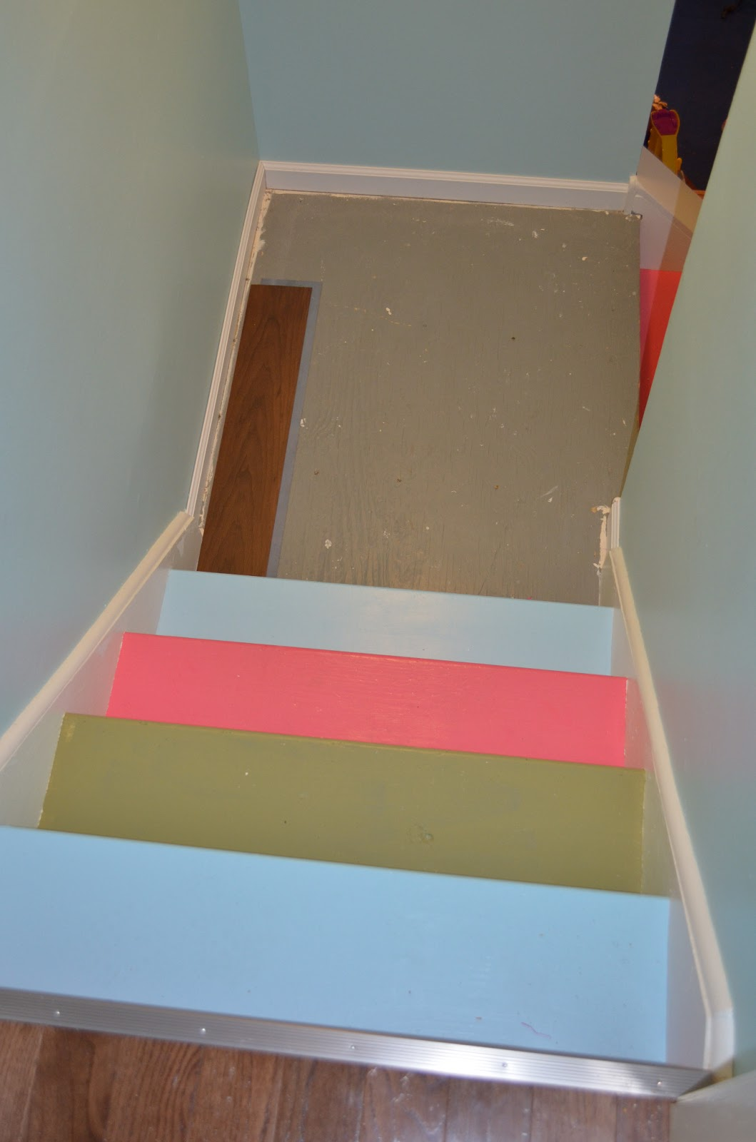 Smart Girls DIY: Funky Painted Basement Stairs