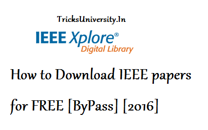 How to Download IEEE papers for FREE TricksUniversity