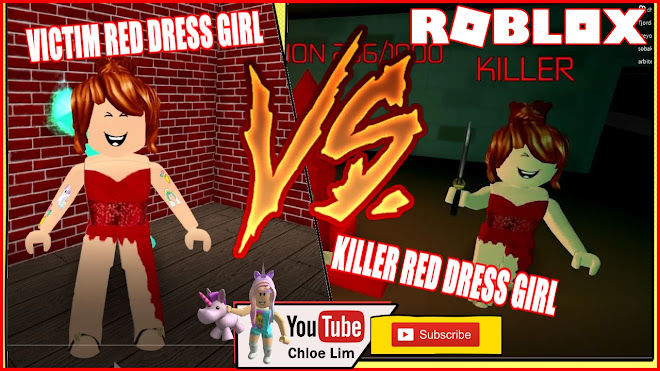 Roblox SURVIVE THE RED DRESS GIRL Gameplay! The RED DRESS GIRL LOOKING FOR REVENGE!