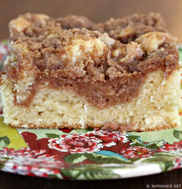 Jam Hands Cinnamon Cream Cheese Coffee Cake