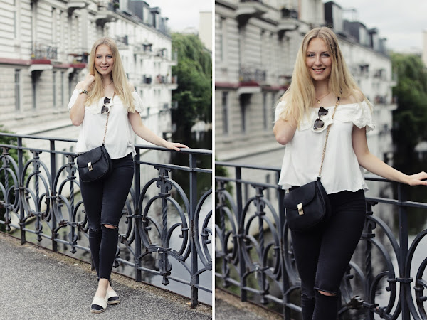 Hamburg Outfit #3: How I style my white Off-Shoulder-Top